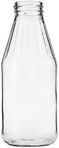 mikken con Tappo a Vite Colore Bianco 12 Bottiglie di Vetro da 500 ml Imbuto Incluso