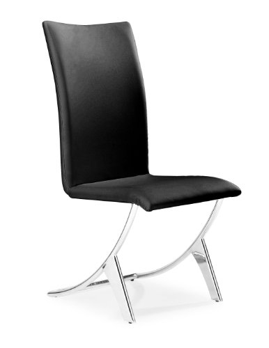 Zuo Delfin Dining Chair Black (set of 2)