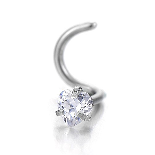 Stainless Steel Zirconia Jewelry Piercing