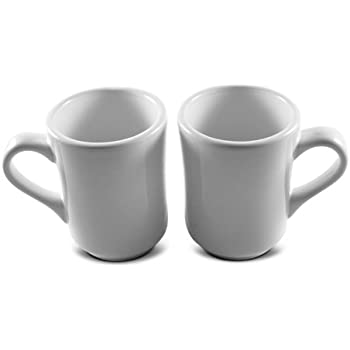8 oz ounce white diner style coffee mug coffee mugs coffee bar cups restaurant quality two 2 sets - Coffee Mug Sets