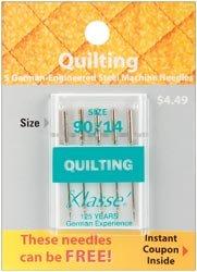 Klasse Bulk Buy Quilting Machine Needles 90/14 5 Pack A5106-9014 (5-Pack) by Klasse