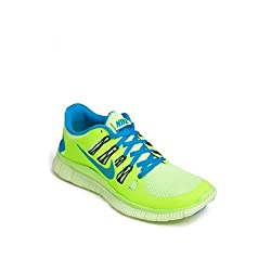 Mens Nike Free 5.0 Running Shoe Flash Lime/Black/Liquid Lime/Blue Hero Size 15