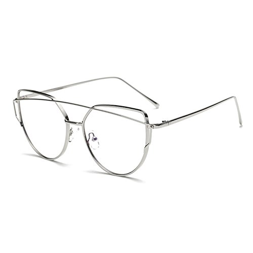 5deca7e38f ... marco para hombres mujeres Highdas. 50% de descuento Anti gafas de luz azul  claro gafas lente Geek / Nerd gafas