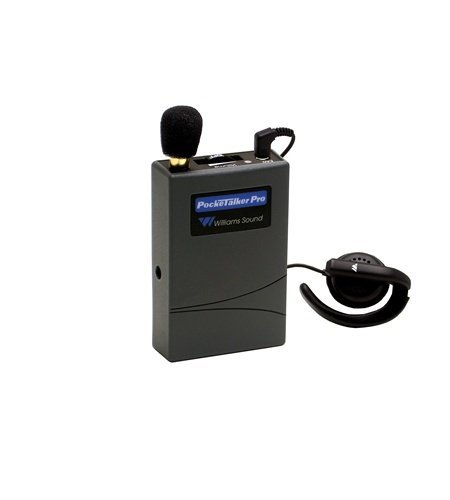 Williams Sound PKT PRO1-1 Pocketalker PRO System Amplifier with Wide-range Earphone, 100 hours of battery life, Adjustable volume control/internal tone control, Accommodates a variety of earphone and