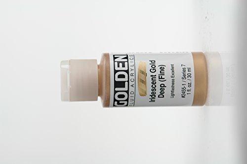 Paint Deep - Golden Fluid Acrylic Paint 1 Ounce-Iridescent Gold Deep