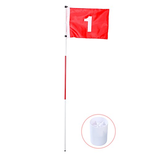 EverTrust(TM) Nylon Backyard Practice Golf taining Flagstick Hole Pole Flag Cup Stick Putting Green Chipping