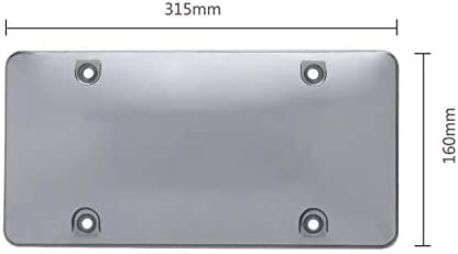 Clear Plastic Protective License Plate Cover