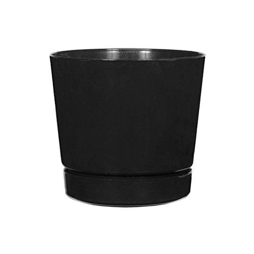 black flower pot 8 - 4