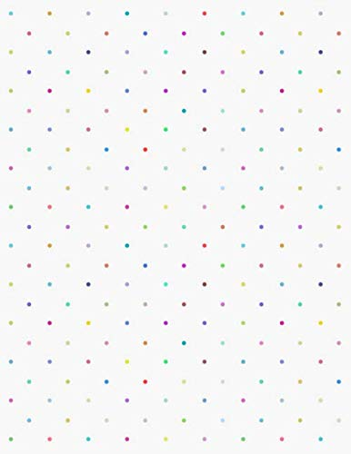 Graph Paper Notebook: Quad Ruled Graphing Paper, 200 Pages, Colorful Polka Dots (8.5x11) (Graphing Paper Sketchbook)