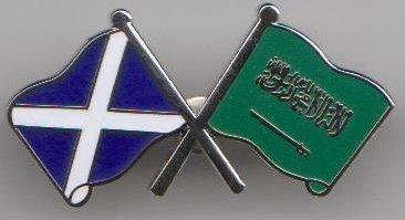 y insignia escocesa amistad bandera la Escocia de la de Saudita Arabia Rq5OwPAq