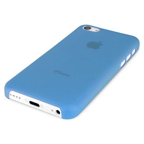 BoxWave SecondSkin Étui Case Pour Apple iPhone 5c (Bleu)