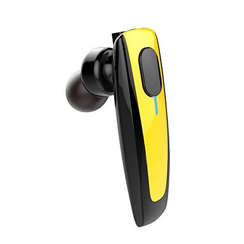 (MCJL Bluetooth Earphones, CVC6.0 DSP Intelligent Noise Reduction Wireless Call Business Bluetooth Headset Earbuds,Yellow )