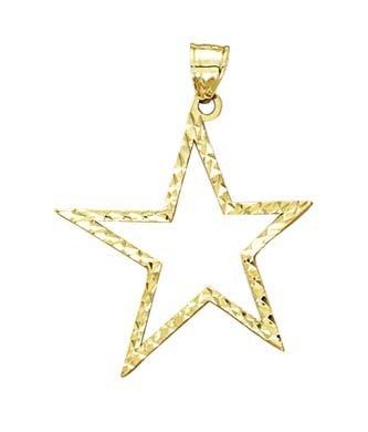 Star X 14 carats taille diamant pendentif JewelryWeb