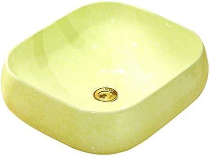 BoPin (タップなし)バスルームの洗面台、正方形セラミック上記カウンタ流域ホームシンクバニティ技術流域、42.5X37.5X14cm ベッセルシンクシンク (Size : 42.5X37.5X14cm)