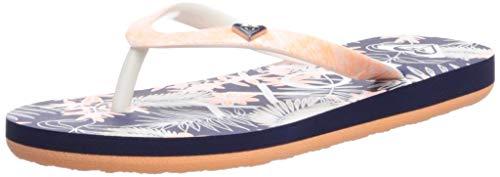 Roxy Women's Portofino Flip Flop Sandals, Blue/Pink 2 13 (Portofino Shoes)