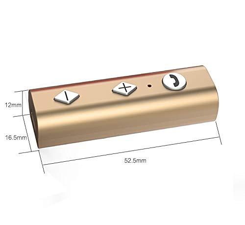 unterst/ützt TF Karte und Freisprecheinrichtung Wireless Musik Adapter f/ür Zuhause//Auto Gold Musik Streaming Stereo System YETOR Bluetooth AUX Adapter