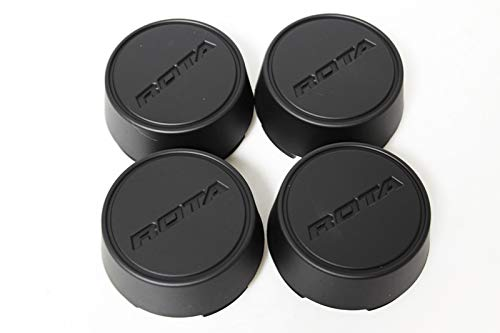 Rota Wheels Replacement Wheel Center Caps - Moda - Flat Black - Set of 4 Caps - Rota Wheel