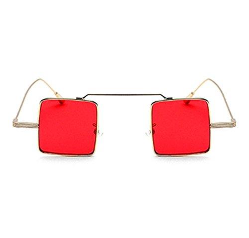 soleil Rouge carrées lunettes Huateng classiques femmes de Lunettes pour hommes et de polarisées UV400 soleil non zzfUqZw