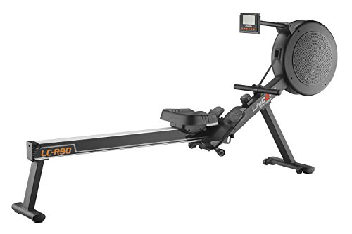 LifeCORE Fitness R90 Rowing Machine, Black Frame