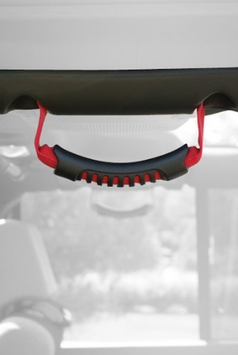 - Rugged Ridge 13305.15 Red Windshield Pillar Rear Side Grab Handle - Pair by Rugged Ridge