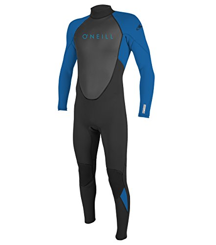 O'Neill Youth Reactor-2 3/2mm Back Zip Full Wetsuit, Black/Ocean, - Large Medium Wetsuits Tall