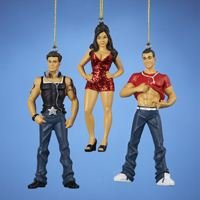 RESIN JERSEY SHORE ORNAMENT SET OF - Pauly Snooki And D