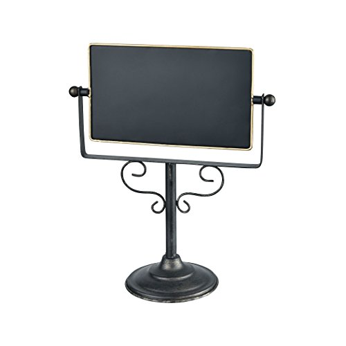 Chateau 10 x 11.5 Inch Decorative Tabletop Double Sided Chalkboard on Pedestal Stand by Pomeroy
