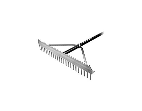 Dual-Purpose Aluminum Field Rake w Vinyl Grip (36 in. W) by FallLine
