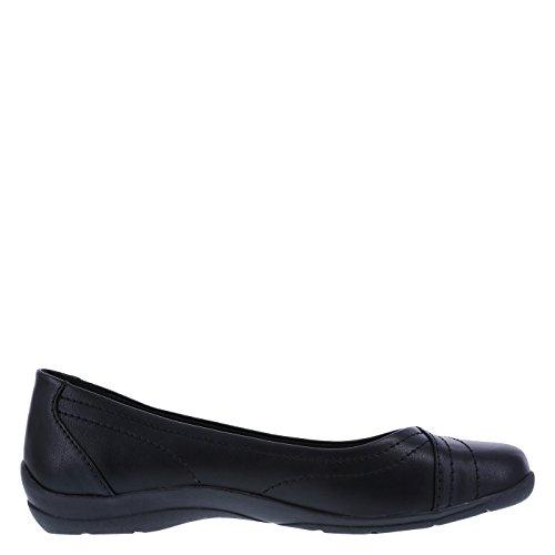 Comfort Più Da Predizioni Womens Patent Carla Snip Toe Flat Smooth Black