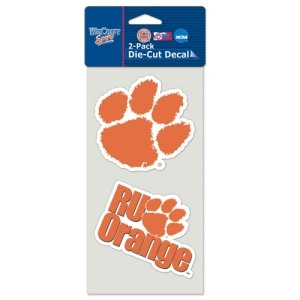 (Clemson Tigers Set of 2 Die Cut Decals)