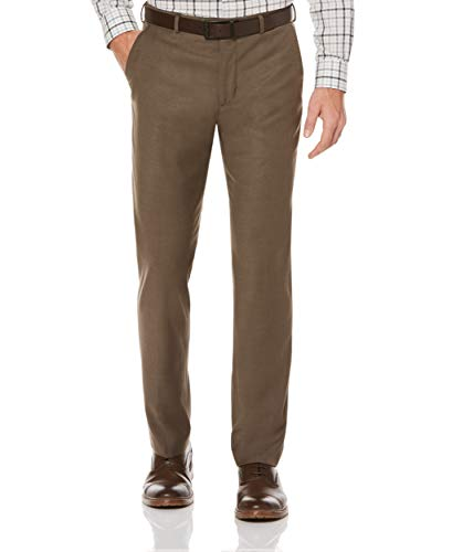 Perry Ellis Men's Portfolio Modern Fit Flat Front Bengaline Pant, Raindrum, 34W x 30L from Perry Ellis