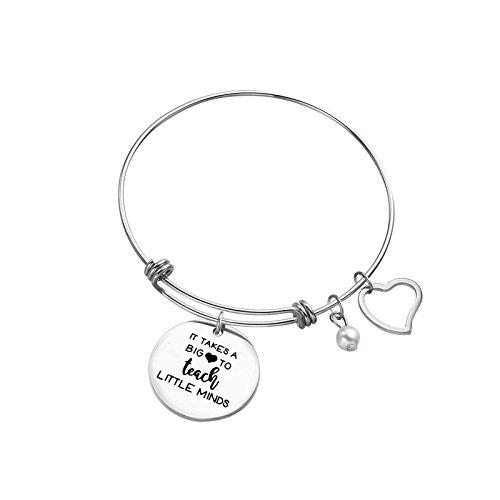 Sunflower Jewellery Charm Bracelet It takes a big heart to teach little minds for mother teacher gift bracelet