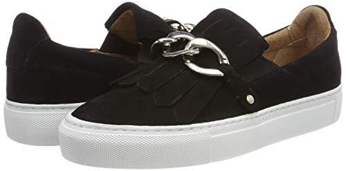 Pavement black Zapatillas Schwarz Para Sin Cordones Gry Suede 017 017 Mujer 77nawB