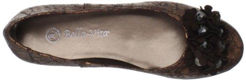 Bella Vita Kvinners Mae Ballet Flat Metallisk Kobber