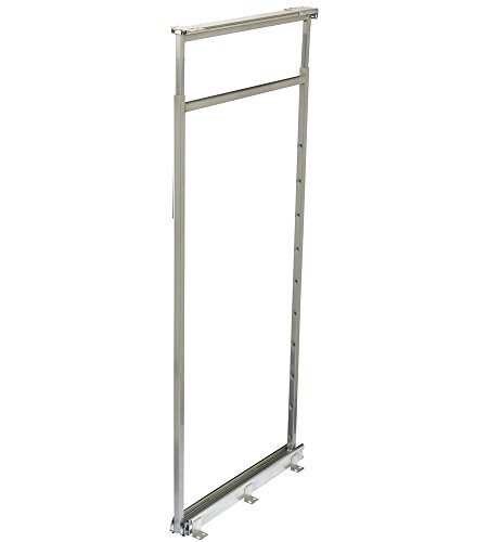 Knape & Vogt P4650CM-FN Center Mount Pantry 46-3/8 Inch - 53-1/8 Inch, Frosted Nickel