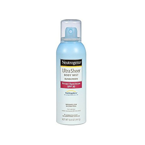Neutrogena Ultra Sheer Body Mist Sunscreen Broad Spectrum SPF 30, 5 Ounce Pack of 3