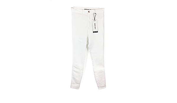 Zara - Pantalón - para Mujer Blanco 34: Amazon.es: Ropa