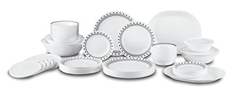 Corelle City Block Dinnerware Set with lids (74-Piece, Service for 12)