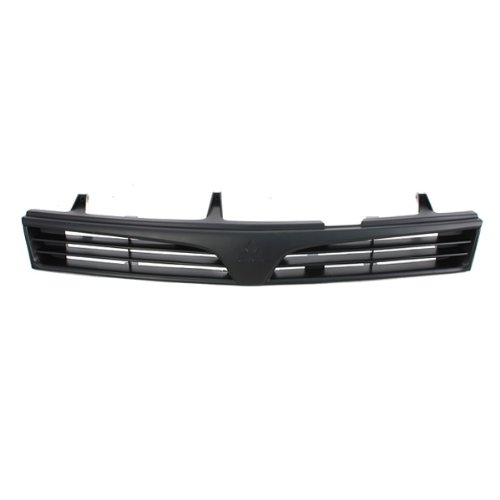 CarPartsDepot, 4D Sedan Grille Grill Assembly Front Black Plastic Frame, 400-17107 MI1200215 MR748059 ()