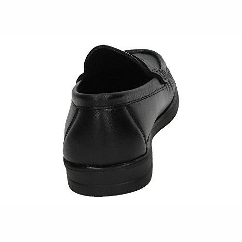 Negro MOCASÍN Mocasines Zapatos 1180 DE Hombre Piel CALZALINE 0BwY7p