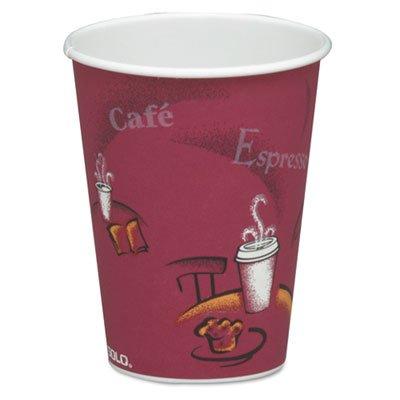 Solo Cup Bistro Design Hot Drink Cups, Paper, 8 Oz., Maroon