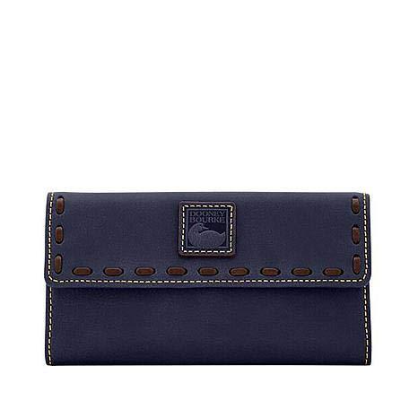 Dooney & Bourke Florentine Continental Clutch Navy Leather - Florentine Leather Purse
