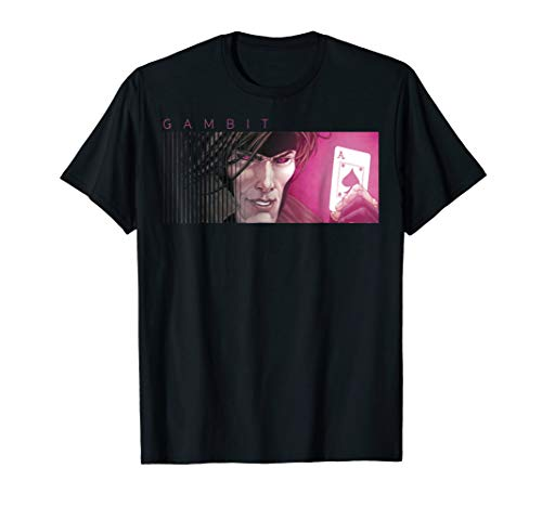 Marvel X-Men Gambit Ace of Spades Graphic T-Shirt