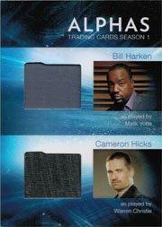 (Alphas Season One DM3 Wardrobe Costume Card Bill Harken and Cameron)
