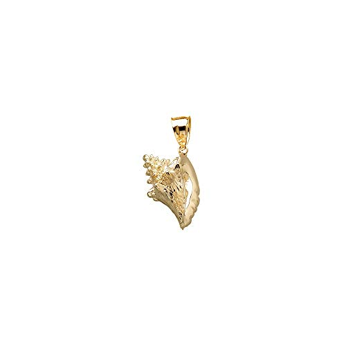 (FB Jewels 14K Yellow Gold 3D Conch Shell Pendant)