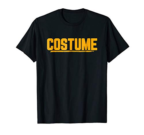Halloween T-Shirt That Says Costume Easiest Last Min -