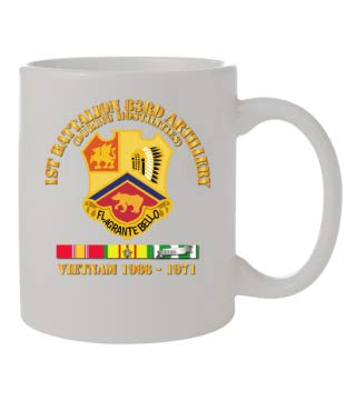 (Coffee Mug 11oz- Front & Back - Army - 1st Bn 83rd Artillery - Vietnam Veteran w SVC )