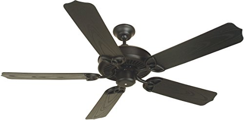 Craftmade K10163 Outdoor Patio Ceiling Fan with Standard Blades, Flat