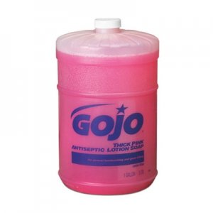 GOJO� Pink Antimicrobial Lotion Soap, 1 gal, Floral Scent