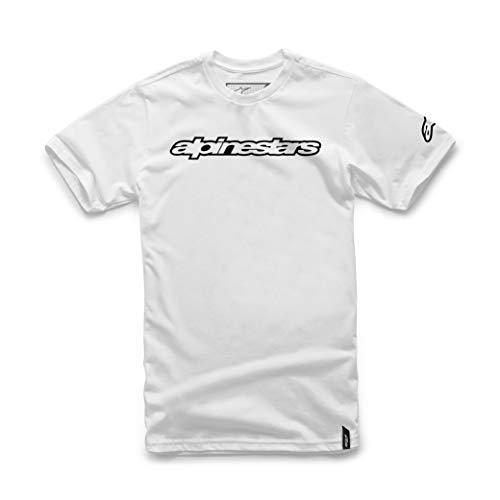 ALPINESTARS Men's Wordmark T-Shirt, White, Large ()